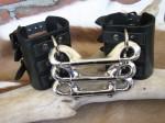 Ebony Bondage Cuffs - $65