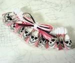 Pink Skull Wedding Garter