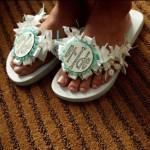 Wedding Flip Flops - $37