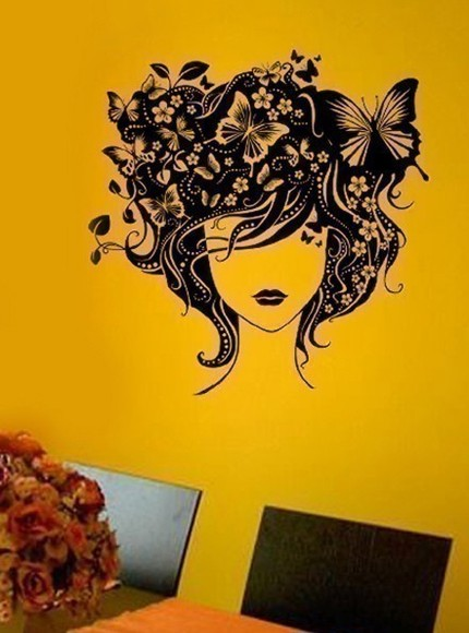Butterfly Girl Wall Art Decals - $29.99