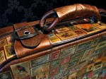 Around the World in 80 Stamps Suitcase - $230