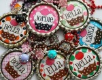 Personalized Cupcake Bottle Cap Necklace - $7.95