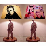 Elvis Presley Lamp and Shade - $125