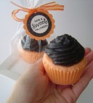 Candy Corn Sweet Halloween Cupcake Soap - $6