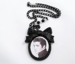 Elvis Portrait Resin Necklace - $40