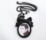 Elvis Portrait Resin Necklace - $40