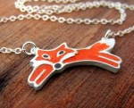 Little Red Fox Necklace - $65