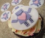 Robot Fondant Cupcake Topper - $12