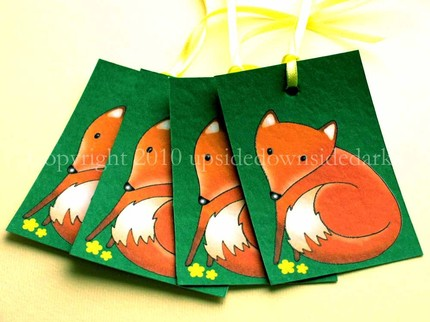 Little Fox Tags Pack of 4 - $3