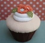 Felt Caramel Cupcake - $40