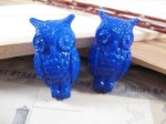 2 Vintage German Lucite Blue Owls - $3