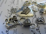 Sweetheart 10 Piece Silver Charm Set - $5